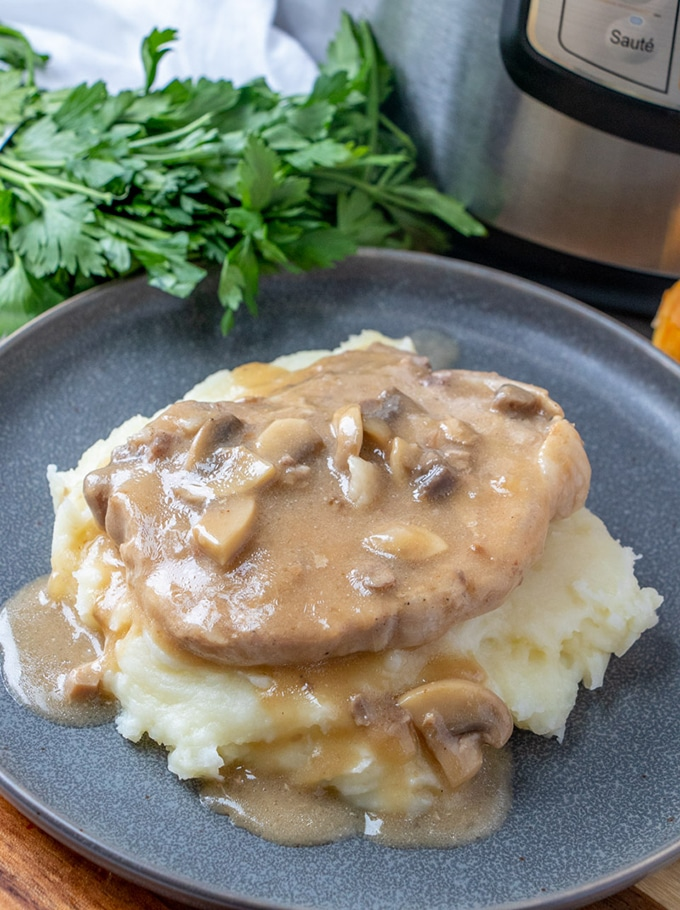 Instant Pot Pork Chops With Mushroom Gravy The Recipe Pot