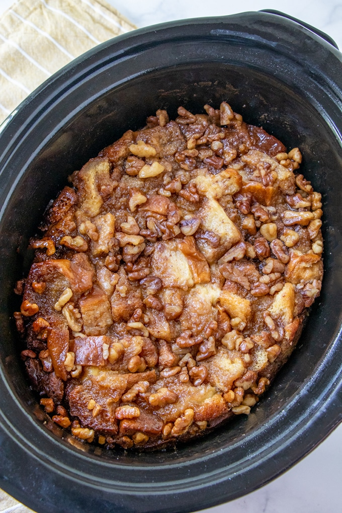 French Toast Casserole in slow cooker