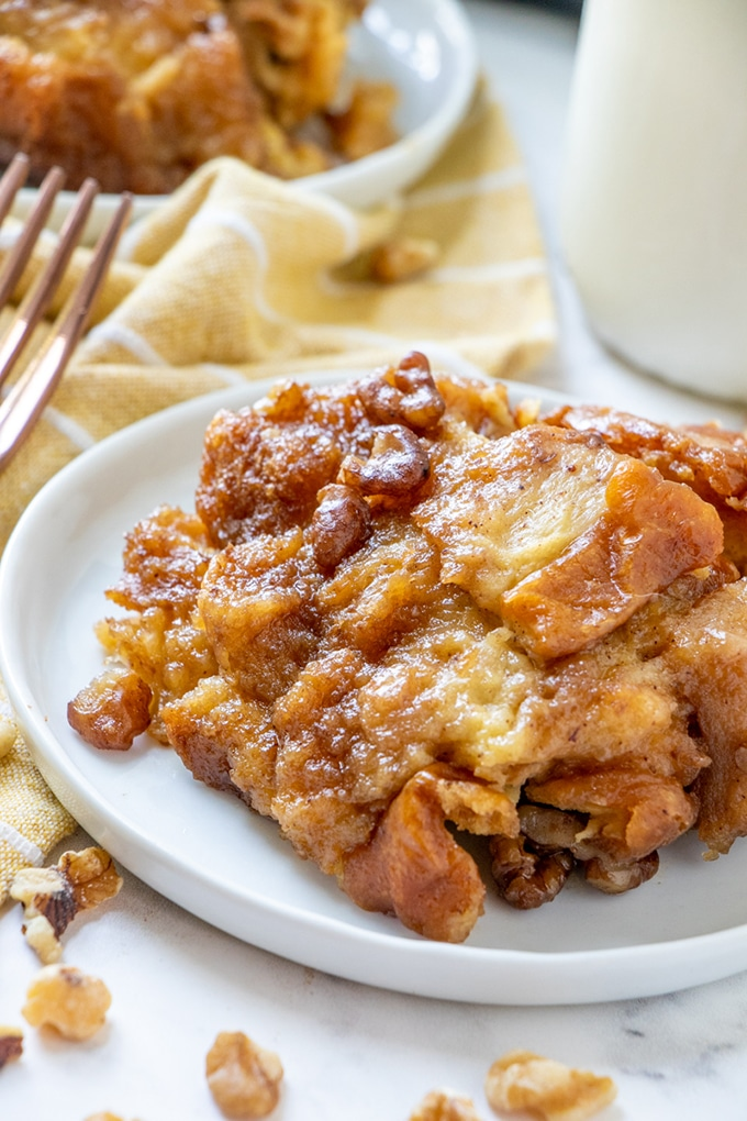 slow Cooker French Toast Casserole on a plate