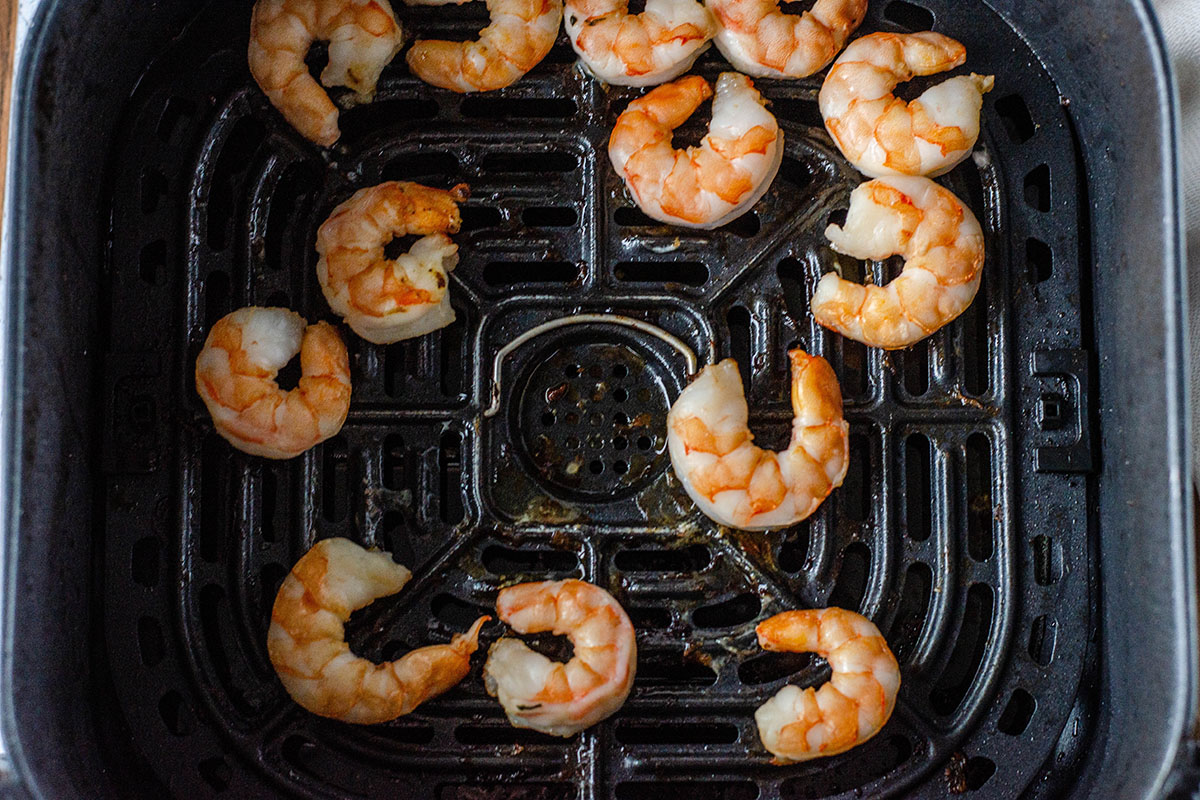 shrimp cooked in air fryer